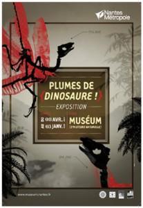 affiche-exposition-plume-dinosaure-nantes