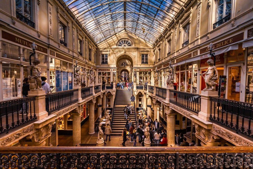 Le passage Pommeraye à Nantes pour faire du shopping